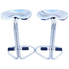 Rare Pair of Rodney Kinsman Stool for Bieffeplast, Italy 1960s