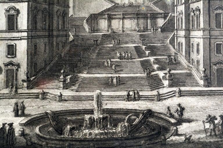 Rare Pair of Rome Prospects Engravings Signed Both Giuseppe Vasi and Piranesi 2