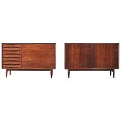 Rare Pair of Rosewood Arne Vodder Cabinets / Sideboards, Sibast, Denmark, 1960s