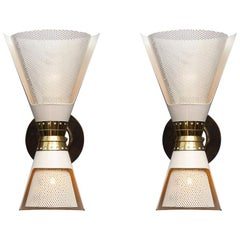 Rare Pair of Sconces #97 by Angelo Lelii for Arredoluce