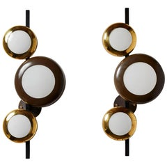 Rare Pair of Sconces by Oscar Torlasco for Lumi