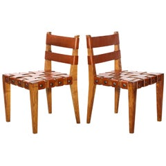 Rare Pair of Side chairs by Osvaldo Borsani
