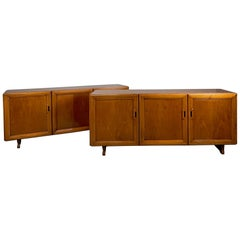 "Rare Pair of Sideboard ""Mb15"" by Franco Albini for Poggi"