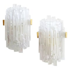 Rare Pair of Skyscrapers Sconces, France, 1960s