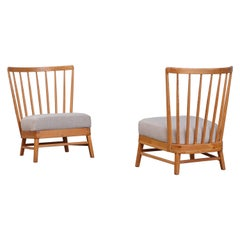 Rare Pair of Swedish Easy Chairs, 1950s