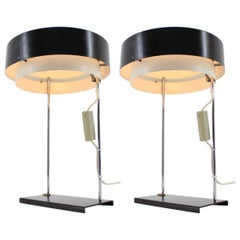 Rare Pair of Table Lamps by Josef Hurka for Napako, 1960s