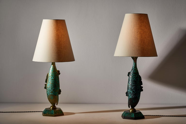 Mid-Century Modern Rare Pair of Table Lamps by Pepe Mendoza For Sale