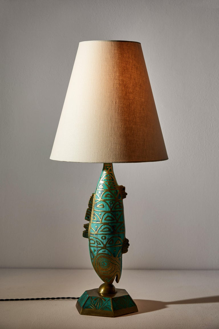 Mexican Rare Pair of Table Lamps by Pepe Mendoza For Sale