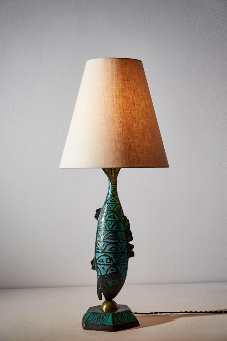 Rare Pair of Table Lamps by Pepe Mendoza In Good Condition For Sale In Los Angeles, CA