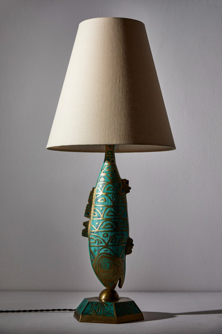 Brass Rare Pair of Table Lamps by Pepe Mendoza For Sale