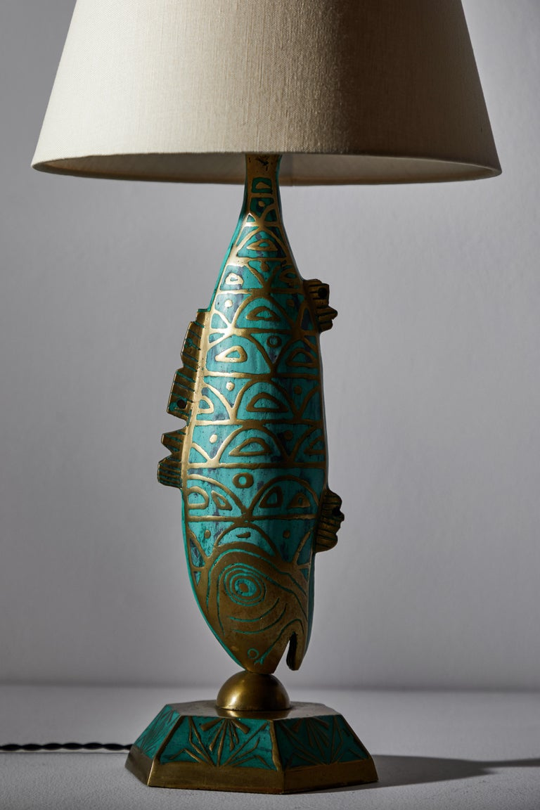 Rare Pair of Table Lamps by Pepe Mendoza For Sale 1