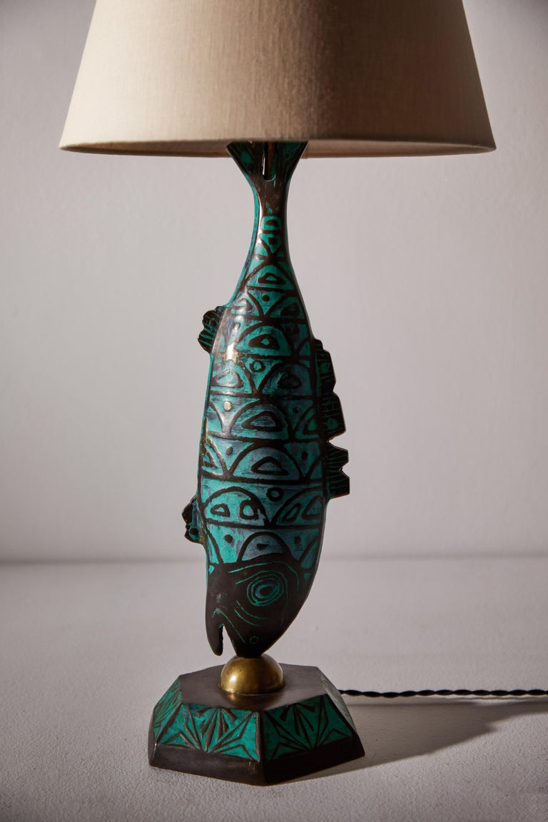Rare Pair of Table Lamps by Pepe Mendoza For Sale 2
