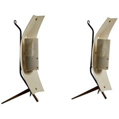 Rare Pair of Table/Wall Lights by Gastone Colliva