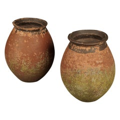 Rare Pair of Terracotta Urns from France, circa 1960