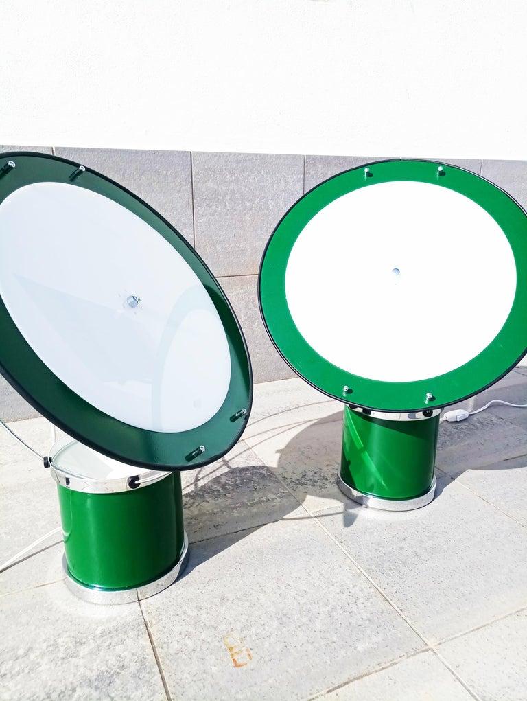 Rare Pair of the First Estiluz Table Lamp, Spain, 1970s For Sale 10
