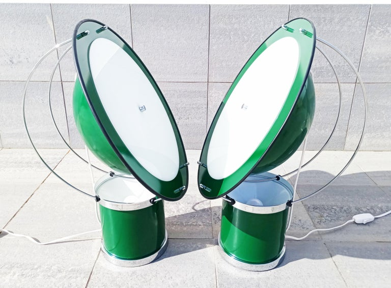 Spanish Rare Pair of the First Estiluz Table Lamp, Spain, 1970s For Sale