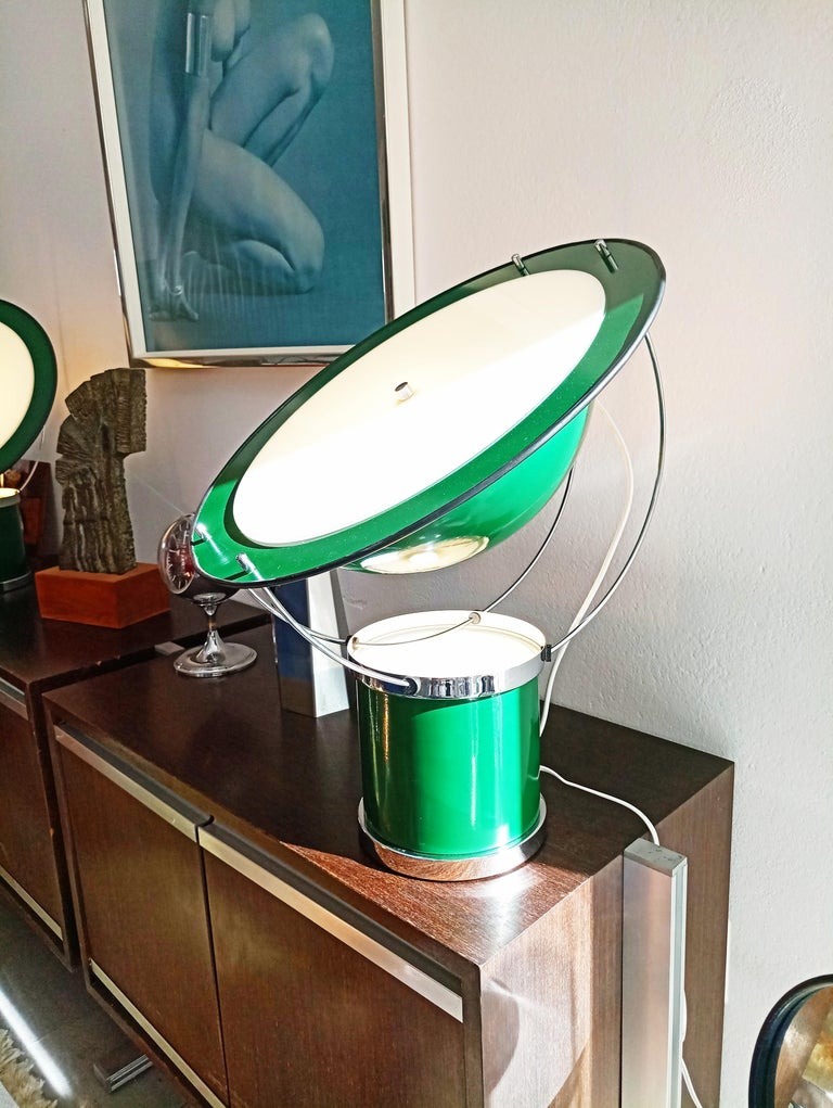 Rare Pair of the First Estiluz Table Lamp, Spain, 1970s In Excellent Condition For Sale In L'Escala, ES