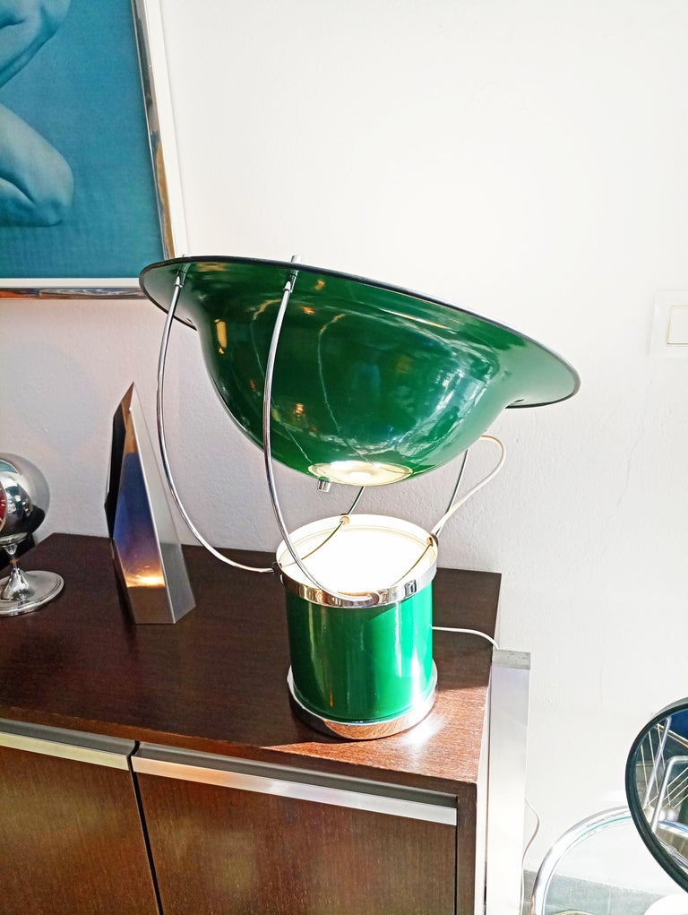 Metal Rare Pair of the First Estiluz Table Lamp, Spain, 1970s For Sale