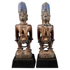 Rare Pair of Very Old Yoruba Ibeji Figures