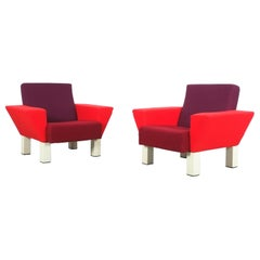 Rare Pair of Westside Armchairs by Ettore Sottsass for Knoll