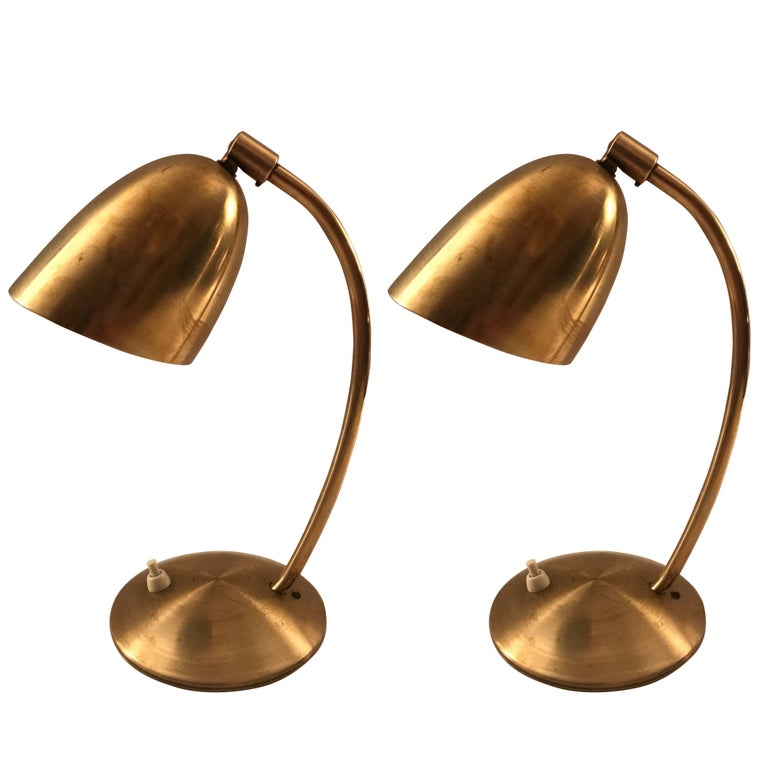 Rare pair swedish high quality brass table lamps 1940s for sale at rare pair swedish high quality brass table lamps 1940s for sale aloadofball Choice Image