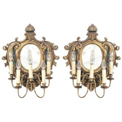 Rare Pair of Portuguese Sconces, 19th Century