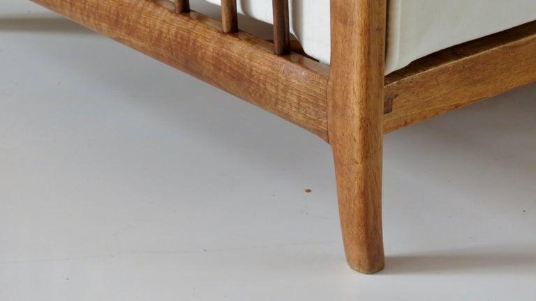 Rare Paolo Buffa White Cherrywood Armchair 118/F, 1950 For Sale 5