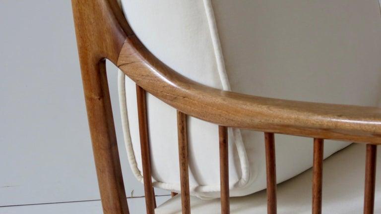 Rare Paolo Buffa White Cherrywood Armchair 118/F, 1950 For Sale 7