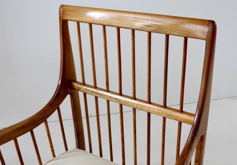 Rare Paolo Buffa White Cherrywood Armchair 118/F, 1950 For Sale 12