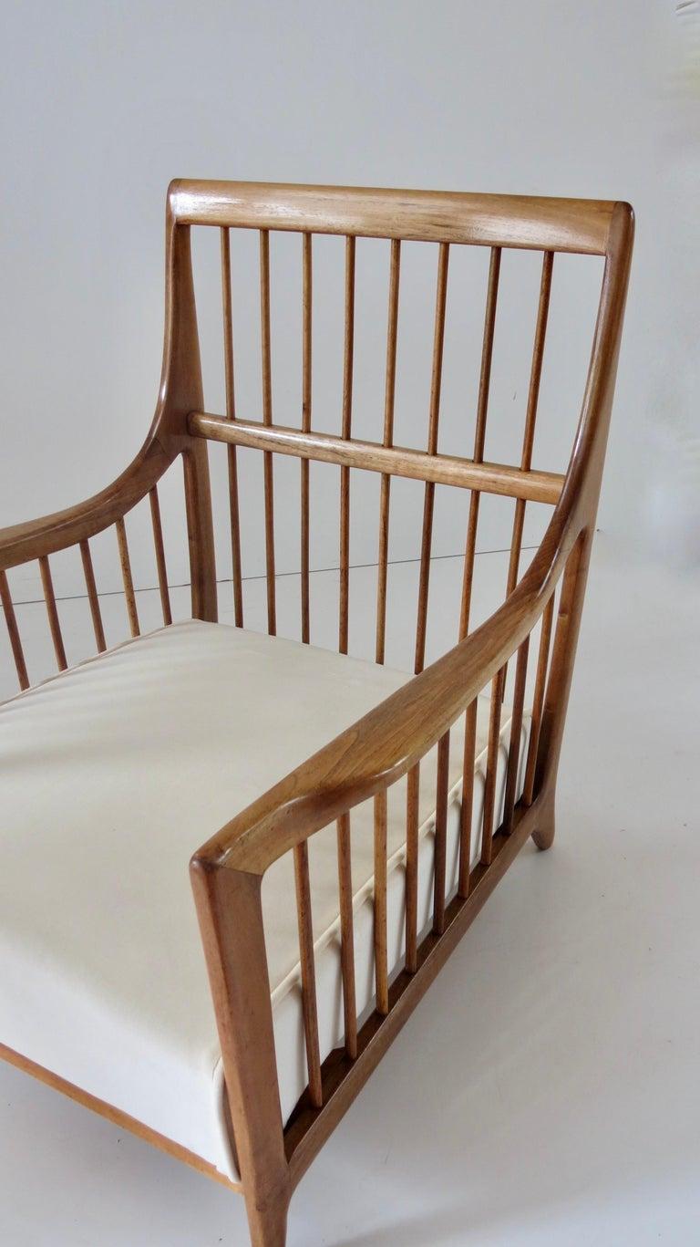 Rare Paolo Buffa White Cherrywood Armchair 118/F, 1950 For Sale 13