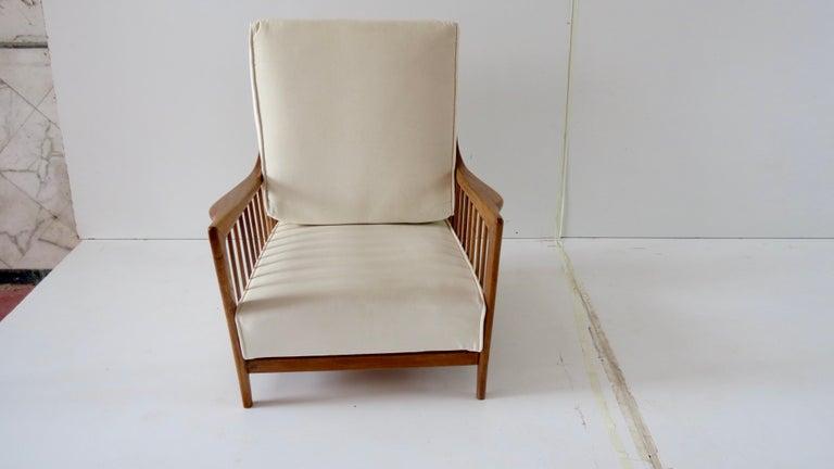 Rare Paolo Buffa White Cherrywood Armchair 118/F, 1950 For Sale 2