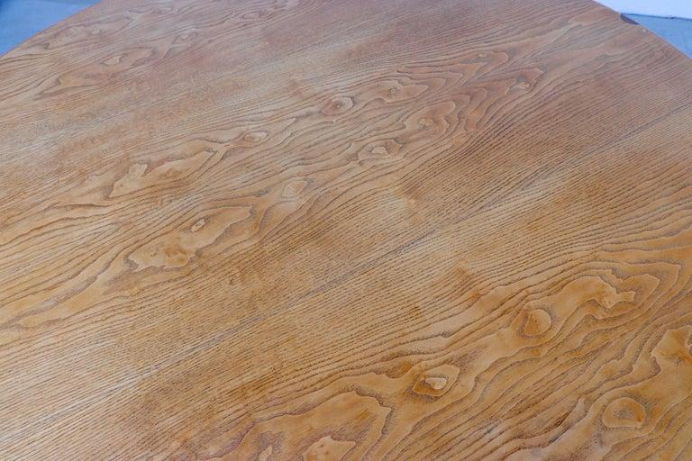 Rare Pastoe Round Oak Pedestal Dining or Center Table For Sale 5