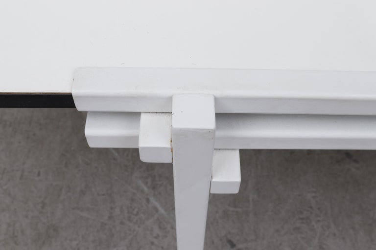 Rare Pastoe White Enameled Dining Table For Sale 6