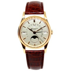 Rare Patek Philippe 5050r 18 Karat Gold Retrograde Perpetual Calendar Wristwatch