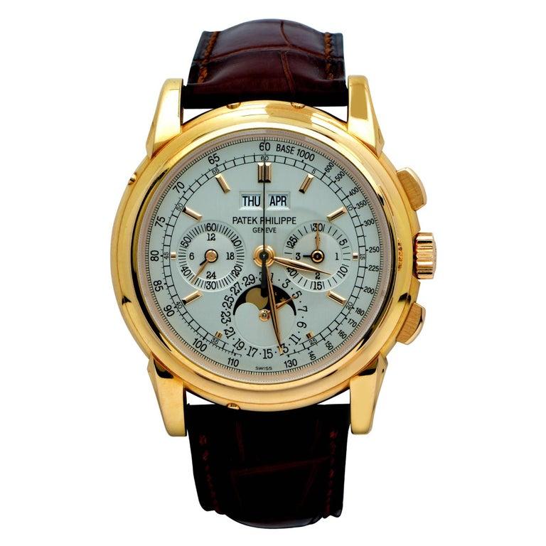 Patek Philippe Rose Gold perpetual calendar manual wind wristwatch Ref 5970