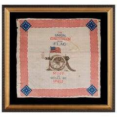 Rare, Patriotic Silk Kerchief of the Civil War Era