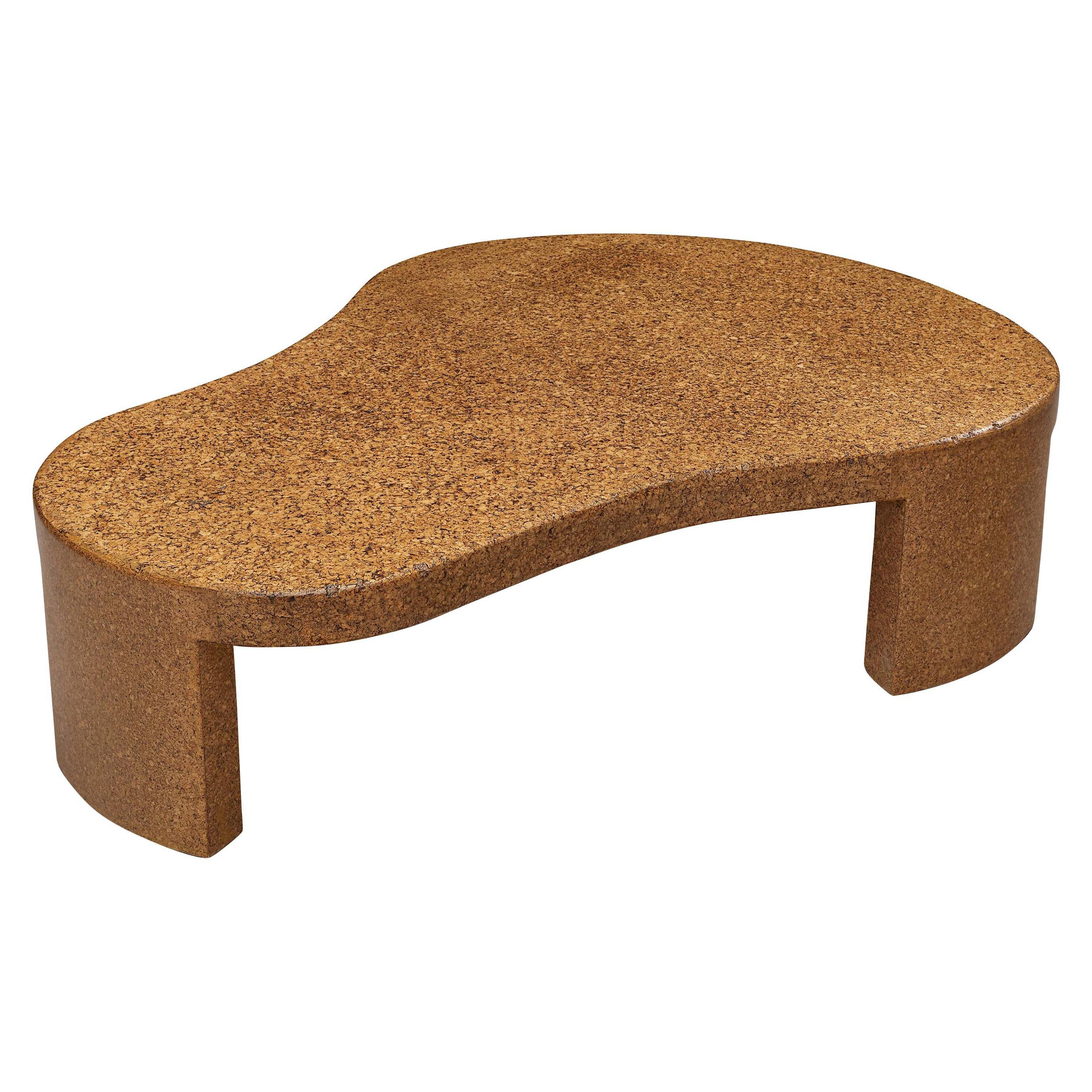 Rare Paul Frankl Freeform Coffee Table Model 5025 in Cork