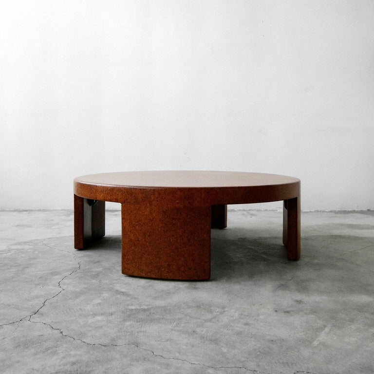 Super rare, midcentury cork coffee table by Paul Frankl for Johnson Furniture. Table is all cork over wood, including the legs. These pieces are very unique and hard to find especially in this condition  Table has been professionally restored.