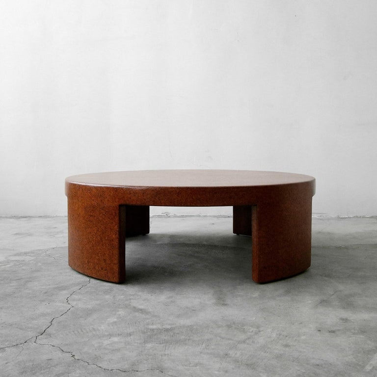 Mid-Century Modern Rare Paul Frankl Round Cork Coffee Table For Sale