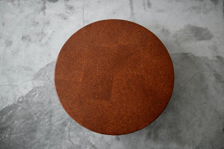 20th Century Rare Paul Frankl Round Cork Coffee Table For Sale