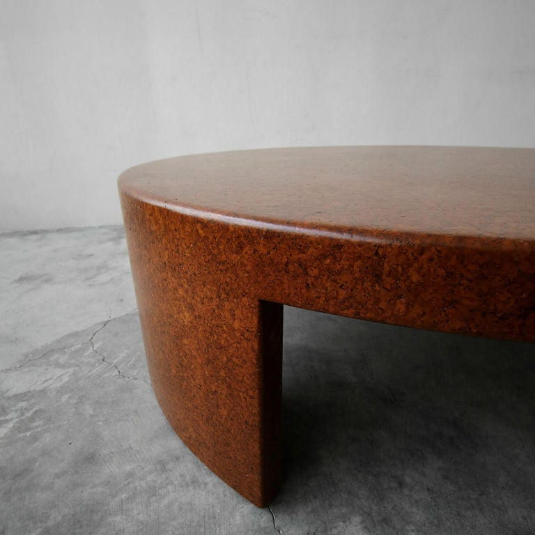 Rare Paul Frankl Round Cork Coffee Table For Sale 1