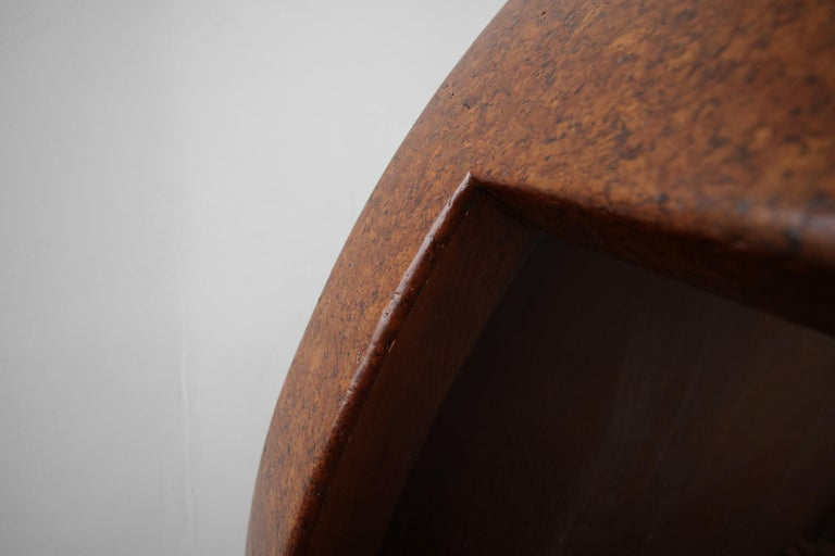 Rare Paul Frankl Round Cork Coffee Table For Sale 2
