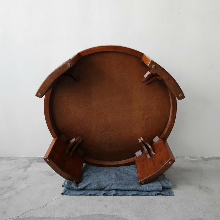 Rare Paul Frankl Round Cork Coffee Table For Sale 4