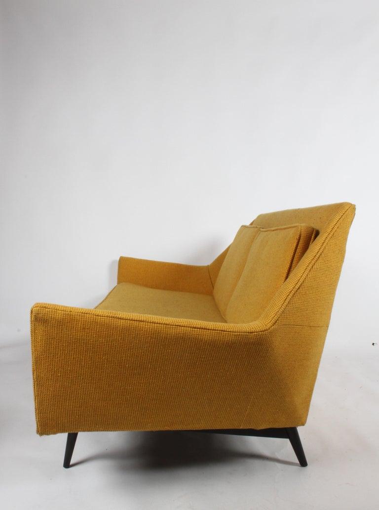 Rare Paul McCobb Cubist Sofa or Settee For Sale 7