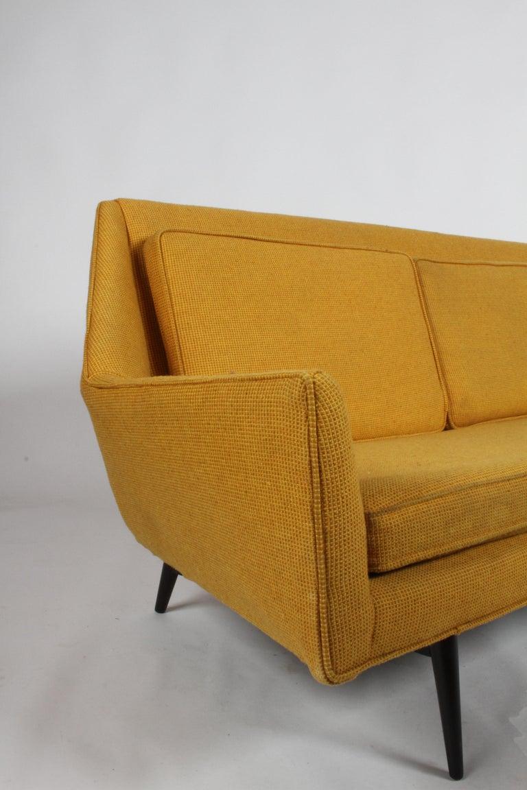 Rare Paul McCobb Cubist Sofa or Settee For Sale 9