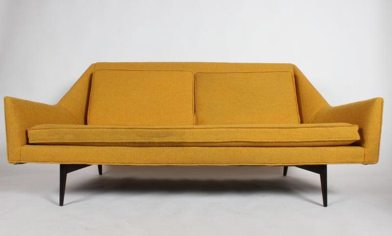 Rare Paul McCobb Cubist Sofa or Settee For Sale 11