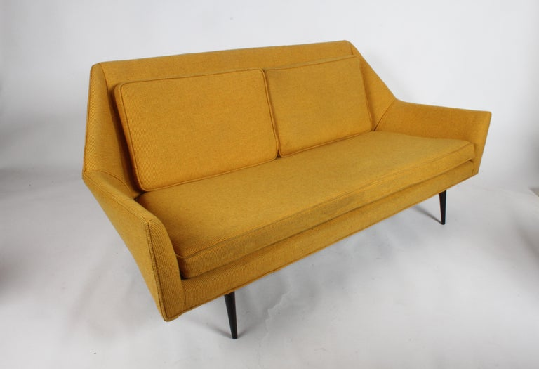 Mid-Century Modern Rare Paul McCobb Cubist Sofa or Settee For Sale