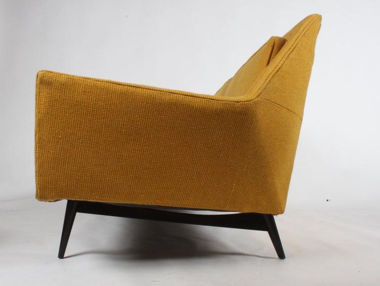 American Rare Paul McCobb Cubist Sofa or Settee For Sale