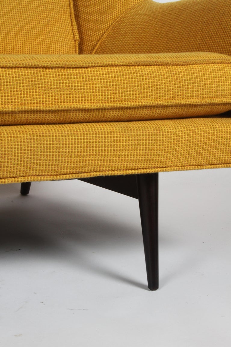 Rare Paul McCobb Cubist Sofa or Settee In Good Condition For Sale In St. Louis, MO