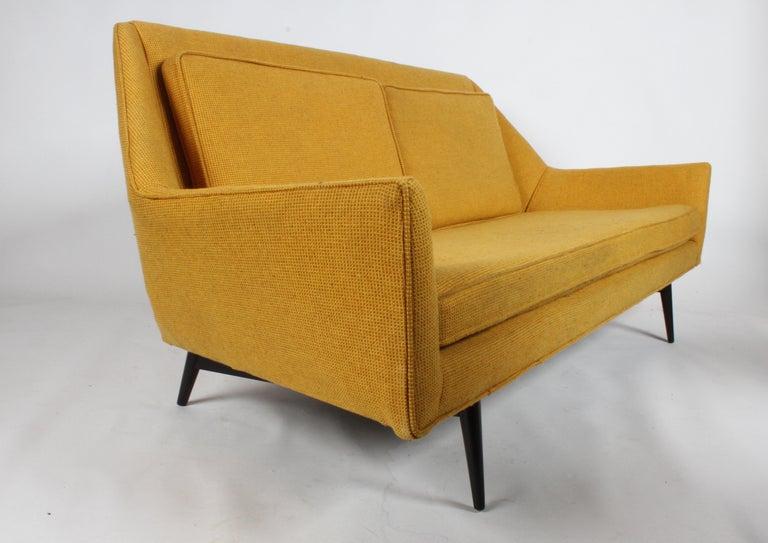 Mid-20th Century Rare Paul McCobb Cubist Sofa or Settee For Sale